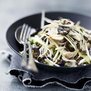 Salade croquante et bœuf mariné