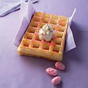 Gaufre aux pralines roses
