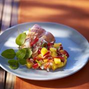 Saumon sauvage et tartare de mangue