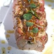 Roulés de filet mignon de porc au camembert