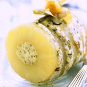 Bûche glacée à l'ananas
