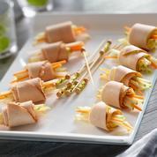 Roulés de filet de poulet au fromage frais et épices douces