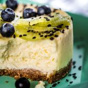 Cheesecake au kiwi et myrtilles
