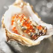 Huîtres aux perles de saveurs au pamplemousse