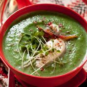Soupe de légumes verts d'hiver