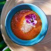 Soupe fraîche de papaye et de tapioca