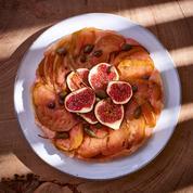 Tarte tatin aux figues, pommes et câpres