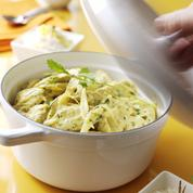 Curry vert de poulet en cocotte