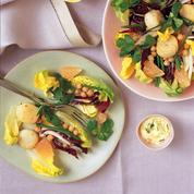 Salade de Saint-Jacques et pois chiche