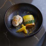 Langoustines, orange et tagliatelles de légumes