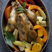 Volaille à la truffe blanche et légumes d'hiver