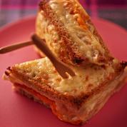 Croque-monsieur jambon cru et mimolette