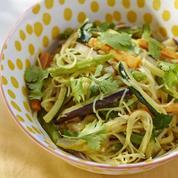 Nouilles sautées aux légumes et coco