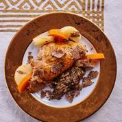 Volaille farcie à la truffe fraîche et patate douce