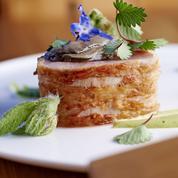 Filet de veau corse, émulsion de bourrache et huîtres Kumamoto