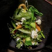 Légumes, faisselle, oxalis