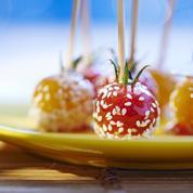 Tomates cerises au sésame façon pommes d'amour