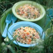 Salade de cœur de blé au jambon