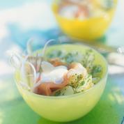 Salade de pommes, pommes de terre et jambon de parme
