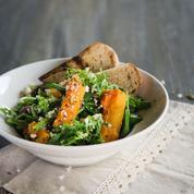 Salade de potimarron, lardons et œuf dur