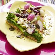 Tarte aux légumes et fanes glacées