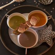 Velouté de légumes et tartine de foie gras