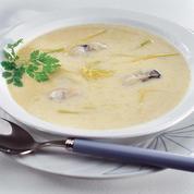 Bouillon crémeux aux huîtres
