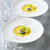 Soupe d'huître safranée