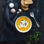 Velouté de potimarron et kasha (sarrasin grillé)