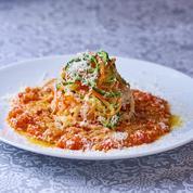 Spaghettis de légumes à la bolognaise