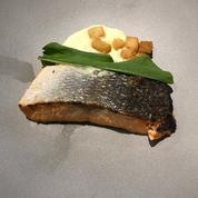 Pavé de saumon, espuma à la menthe