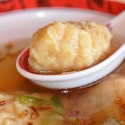 Soupe de raviolis chinois aux crevettes