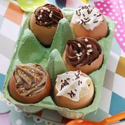 Mousses en coquilles d'œufs de Pâques