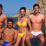 La photo des Zidane, leurs trois enfants et leurs abdos à Ibiza