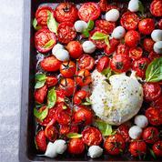 Salade de tomates rôties et buratta