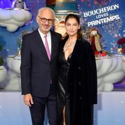 Laetitia Casta inaugure les vitrines de Noël du Printemps Haussmann