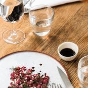 Tartare de bœuf et ricotta émulsionnée au vinaigre balsamique