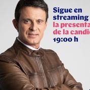 Le look de Manuel Valls, de la chemisette rose au perfecto en cuir marron