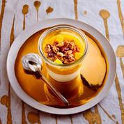 Yaourt à la vanille, mangue et muesli