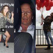 Bruce Willis, Julia Roberts, Jean Dujardin : la semaine people