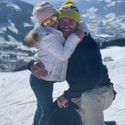 En photos, les Beckham sur les pistes de Saint-Gervais dans les Alpes