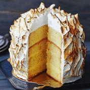 Layer cake au citron meringué