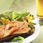 Saumon mariné à la bière