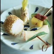 Sushi de beaufort au sésame grillé