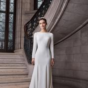 Effet Meghan, manches ballons, robe blazer... Les tendances mariage repérées à la Bridal Fashion Week 2020