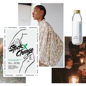 Une bouteille d'eau stylée, un pop-up en nylon, des escarpins festifs... L'impératif Madame