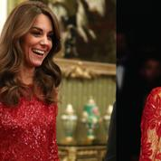 Kate Middleton s'inspire de Lady Di dans une superbe robe rouge à sequins transparente