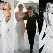 Zoë Kravitz, Sophie Turner, Hailey Baldwin... les plus belles robes de mariée des stars