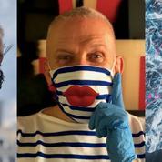 Masque corset ou marinière... Jean Paul Gaultier donne sa version de l'accessoire de protection