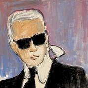 Un autoportrait de Karl Lagerfeld réalisé pour